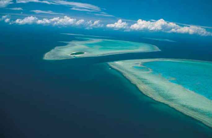 Aerial View The Great Barrier Reef